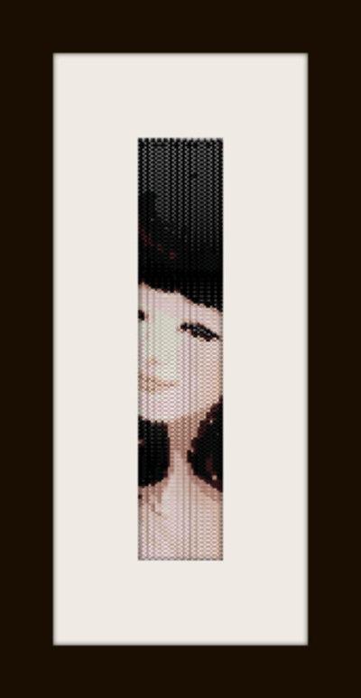 PDF schema bracciale Girl13 in stitch peyote pattern - solo per uso personale