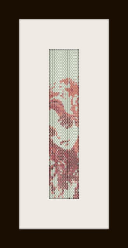PDF schema bracciale Girl japo in stitch peyote pattern - solo per uso personale