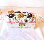 Scatolina decorata con panna e dolci