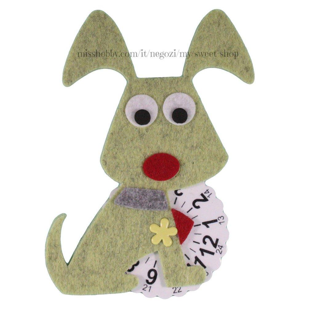 Cane con disco orario - verde marmorizzato