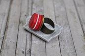 Miniatura Macaron Anello lampone-Collezione Natale