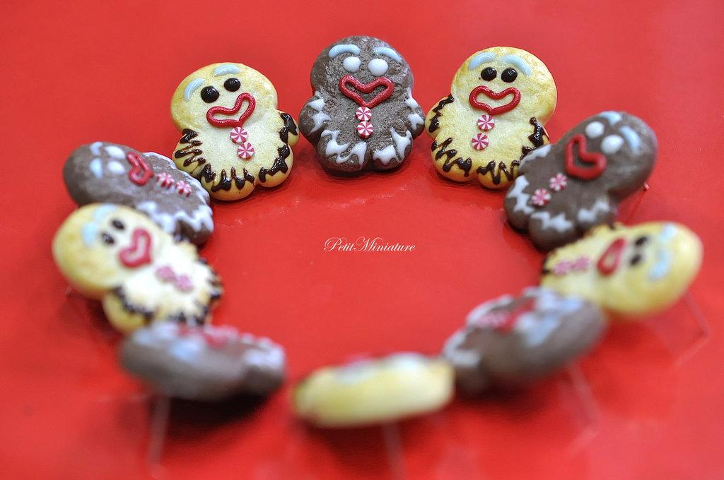 Gingerbreadman Orecchini-Gioielli Natale-Gioielli Natale-Biscotto Natale