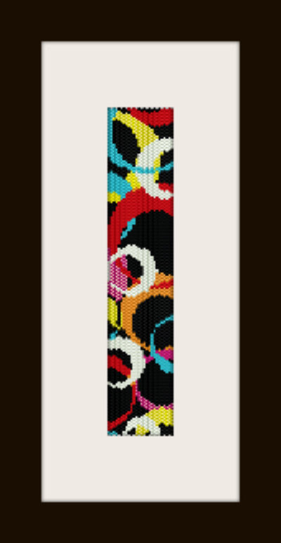 PDF schema bracciale Mezze lune in stitch peyote pattern - solo per uso personale