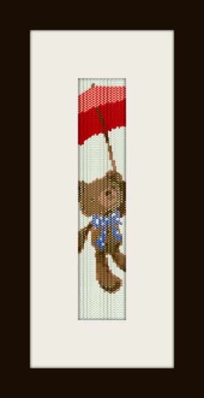 PDF schema bracciale Orsetto1 in stitch peyote pattern - solo per uso personale