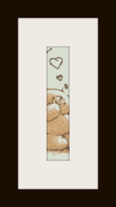 PDF schema bracciale Orsetto Love in stitch peyote pattern - solo per uso personale