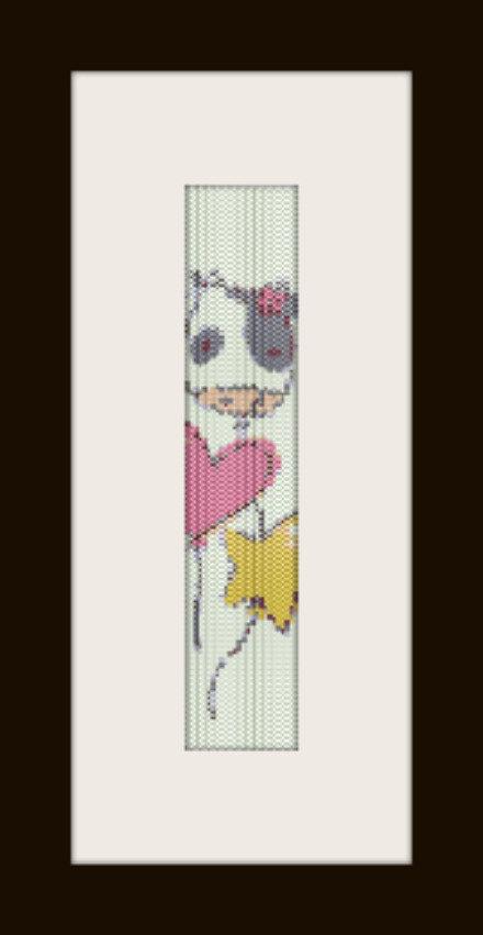 PDF schema bracciale Palloncini in stitch peyote pattern - solo per uso personale