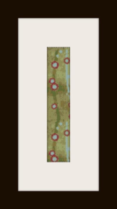 PDF schema bracciale Pois rossi in stitch peyote pattern - solo per uso personale
