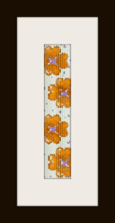 PDF schema bracciale Quadrifogli in stitch peyote pattern - solo per uso personale