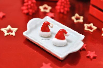 Orecchini Fimo Biscotto Babbo Natale, orecchini biscotto fimo,handmade,gioielli.