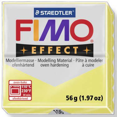 Panetto Fimo Effect 56 gr. - n. 106 Quarzo Citrino