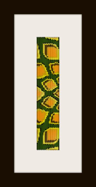 PDF schema bracciale Spighe in stitch peyote pattern - solo per uso personale