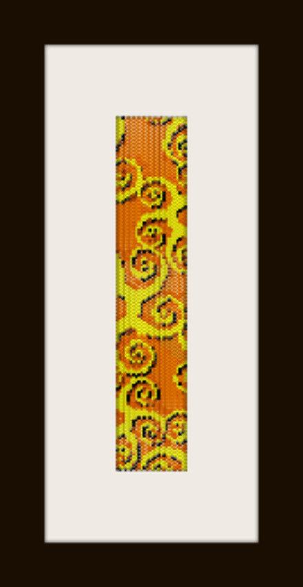 PDF schema bracciale Spirali in stitch peyote pattern - solo per uso personale