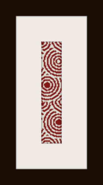 PDF schema bracciale Spirali rosse in stitch peyote pattern - solo per uso personale
