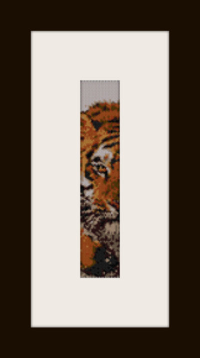 PDF schema bracciale Tigre in stitch peyote pattern - solo per uso personale