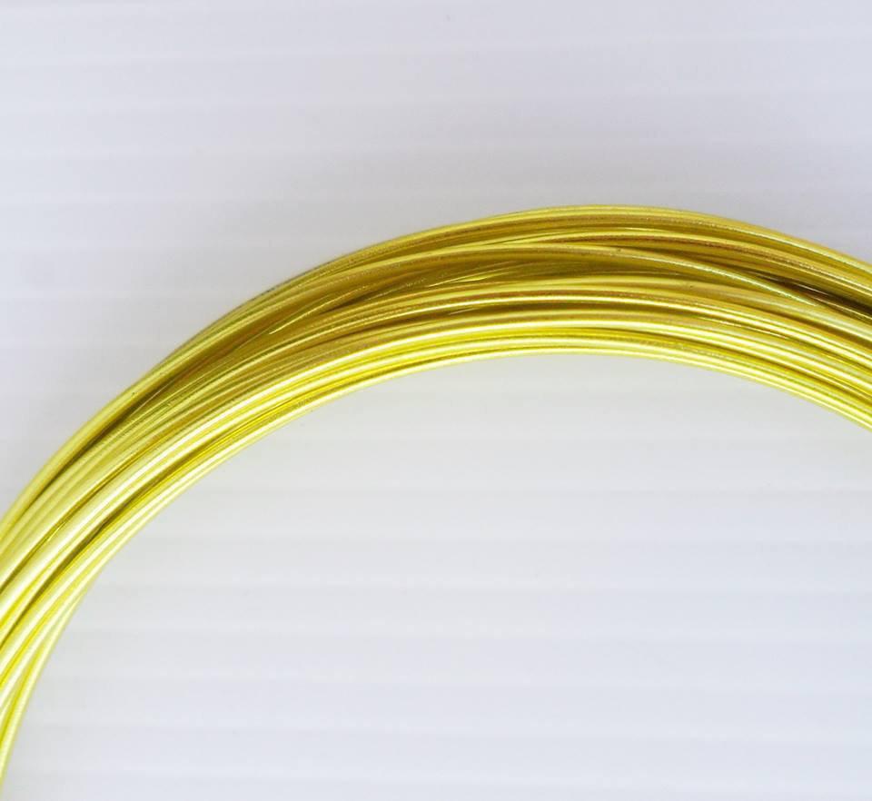 Filo d'alluminio giallo da 1.5 mm bobina da 3 mt