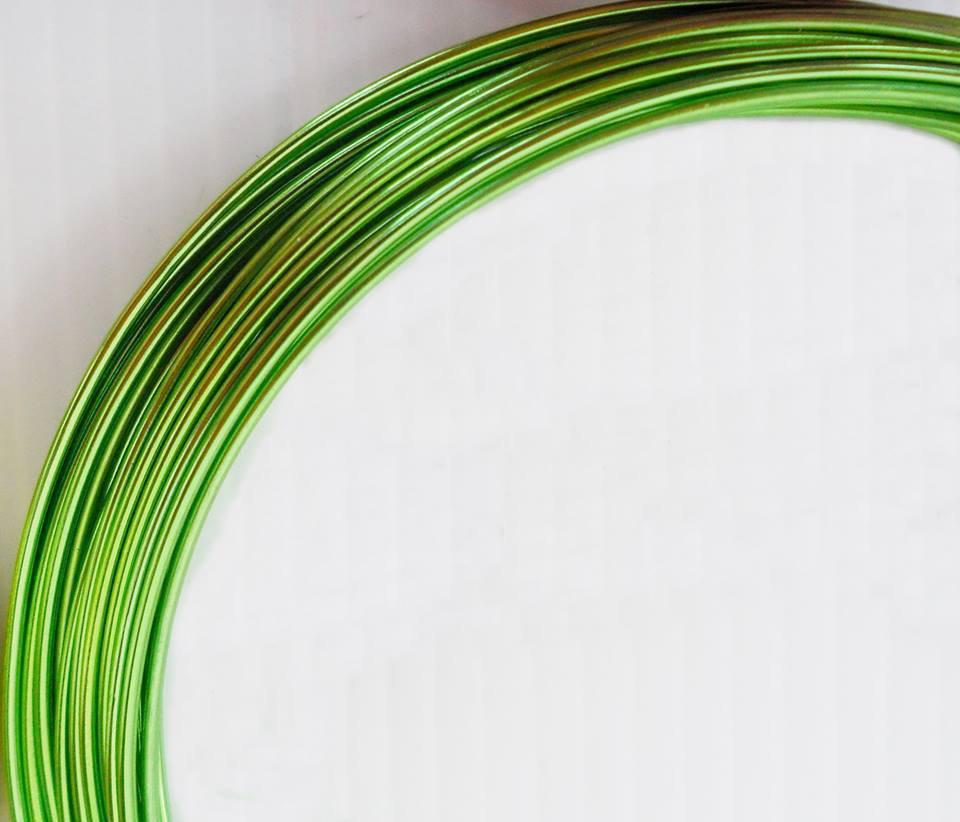 Filo d'alluminio verde da 1.5 mm bobina da 3 mt