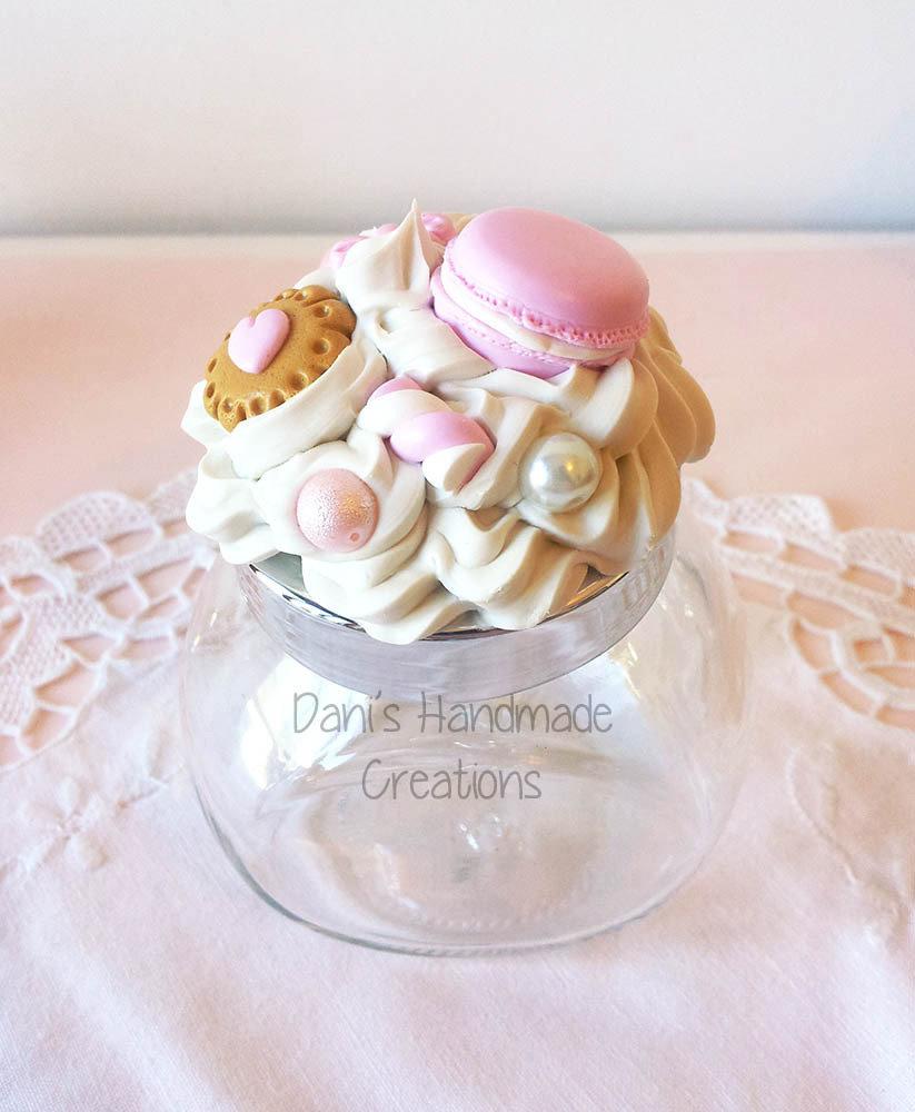 Barattolo porta-spezie decorato rosa