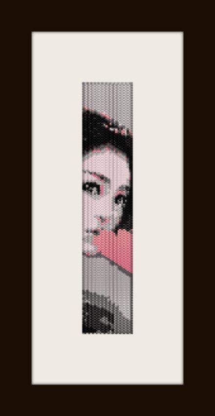 PDF schema bracciale Girl12 in stitch peyote pattern - solo per uso personale