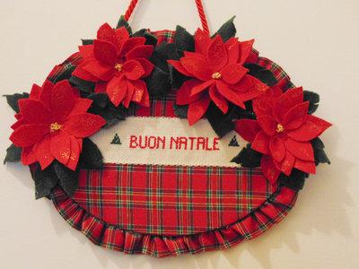 Targa  auguri di Buona Natale