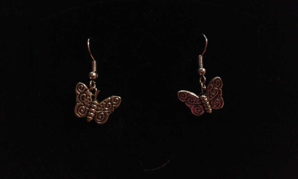 Orecchini argento tibetano farfalla