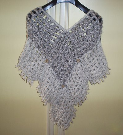 poncho lana bicolore
