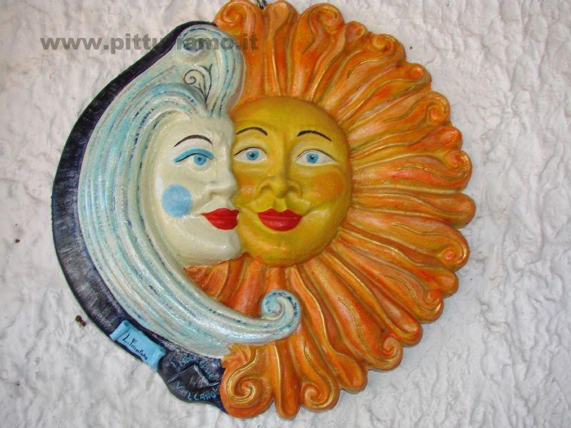 """Scultura da parete """"sole e Luna"""""""