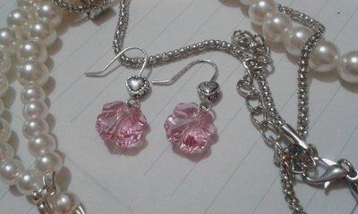 Orecchini quadrifoglio rosa