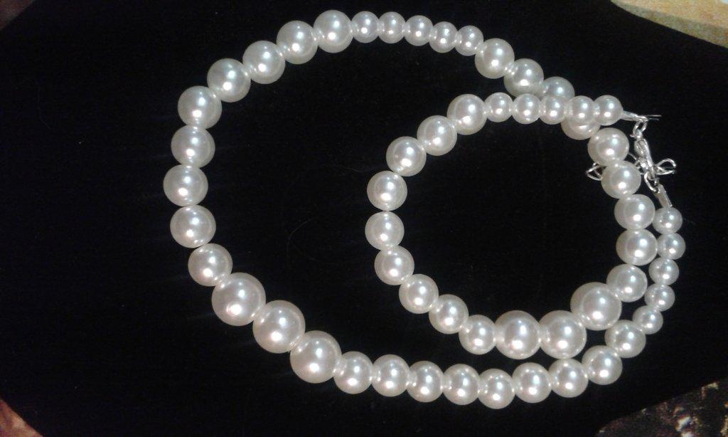 Collana girocollo perle