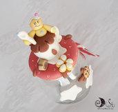 Barattolo decorato natalizio idea regalo natale portacaramelle porta cioccolatini