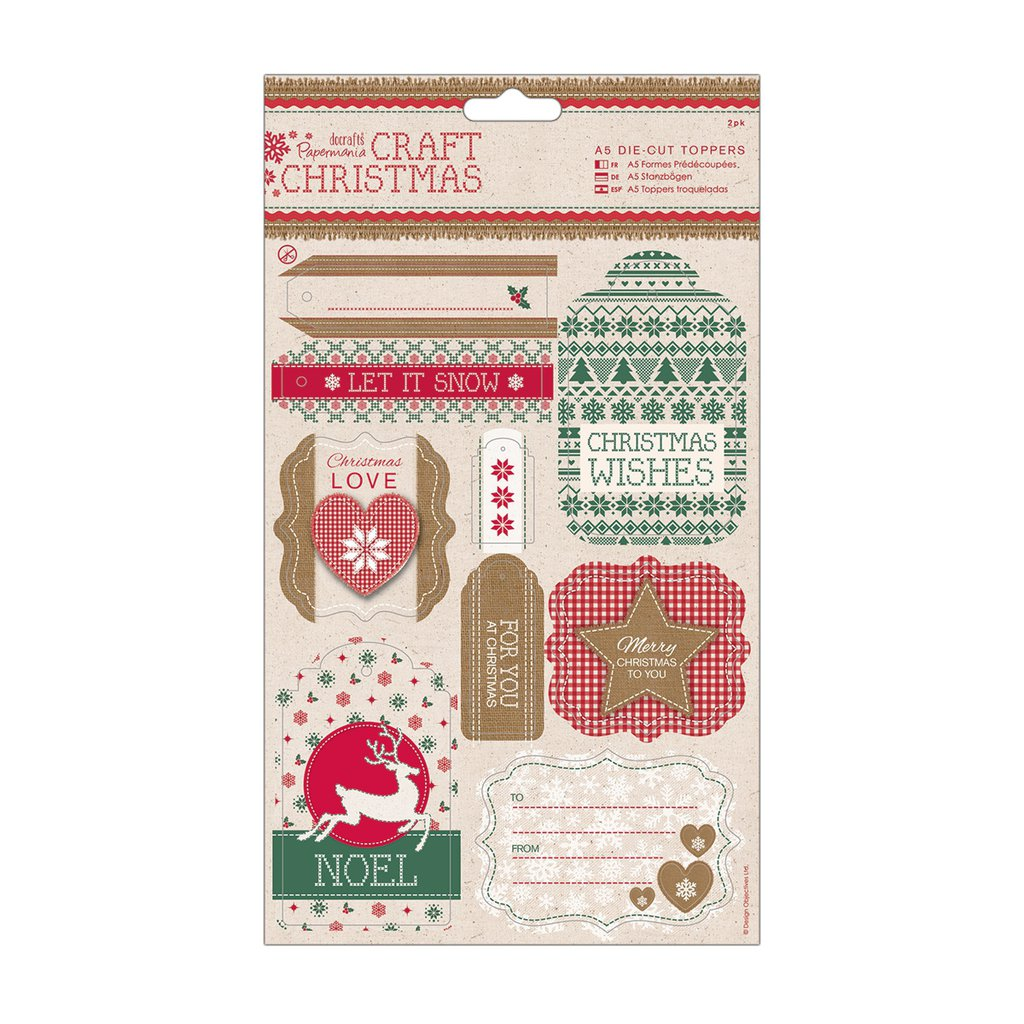 A5 Die-cut Toppers - Craft Christmas