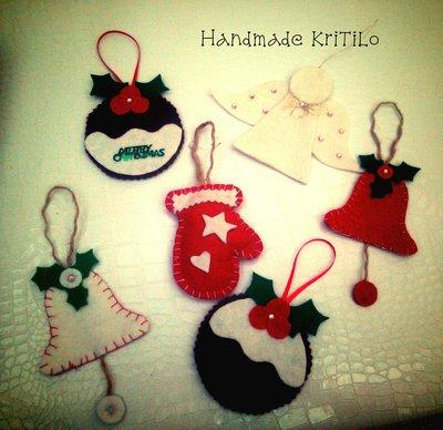 decorazioni appendini di natale handmade kritilo