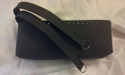 kit Fondo alto e coppia manici in ecopelle grigio scamosciato per borse in fettuccia