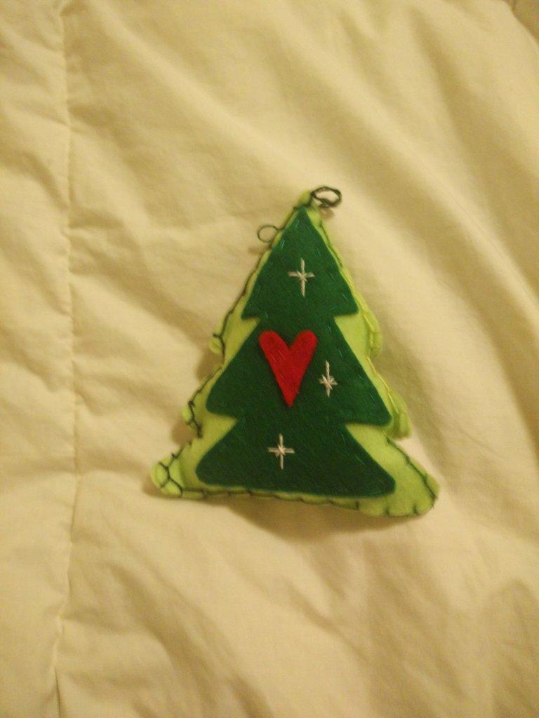 2 Alberi di Natale, addobbi in pannolenci