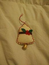2 Campane, addobbi di Natale in pannolenci