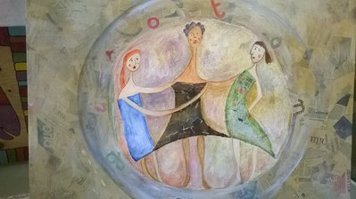 dipinto tecniche miste