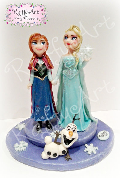 "Cake topper Frozen ""Auguri congelati!"""