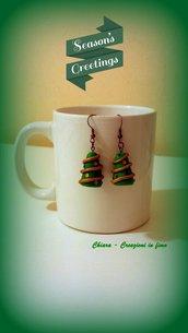 Orecchini in fimo handmade Alberi di Natale idee regalo natale