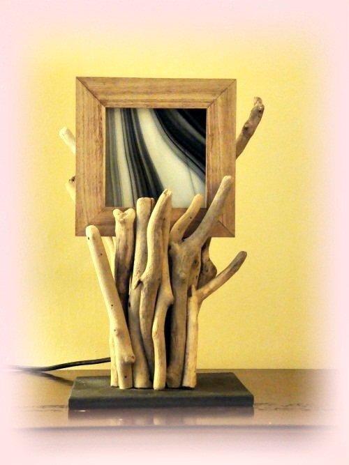 Cécile lampada con legni di mare
