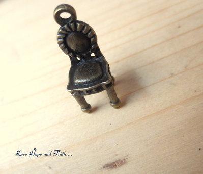 "Charm ciondolo ""Sedia"" (22x10 mm) (cod.12854)"