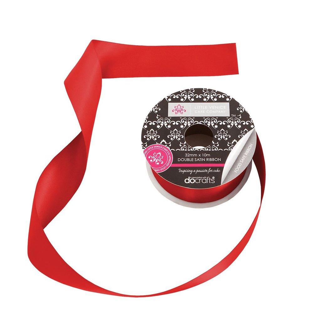 Rotolo nastro in raso (32 mm) - Mirtillo Rosso
