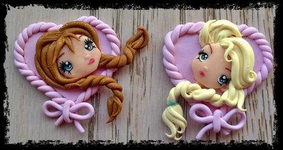 Spille di Elsa ed Anna di Frozen