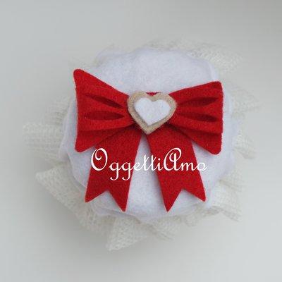 Copri-vasetto in feltro per regali natalizi golosi!