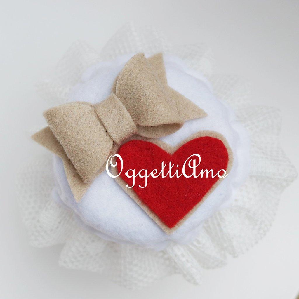 Coprivasetto in feltro per decorare le vostre marmellate in modo Natalizio!