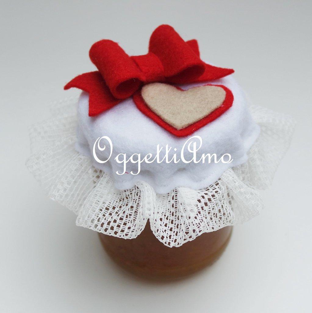 Famoso Coprivasetti in stoffa per golosi regalo natalizi: cuori e fiocchi  HH02