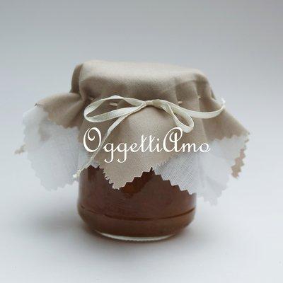 Coprivasetto in stoffa shabby chic per decorare le vostre marmellate!
