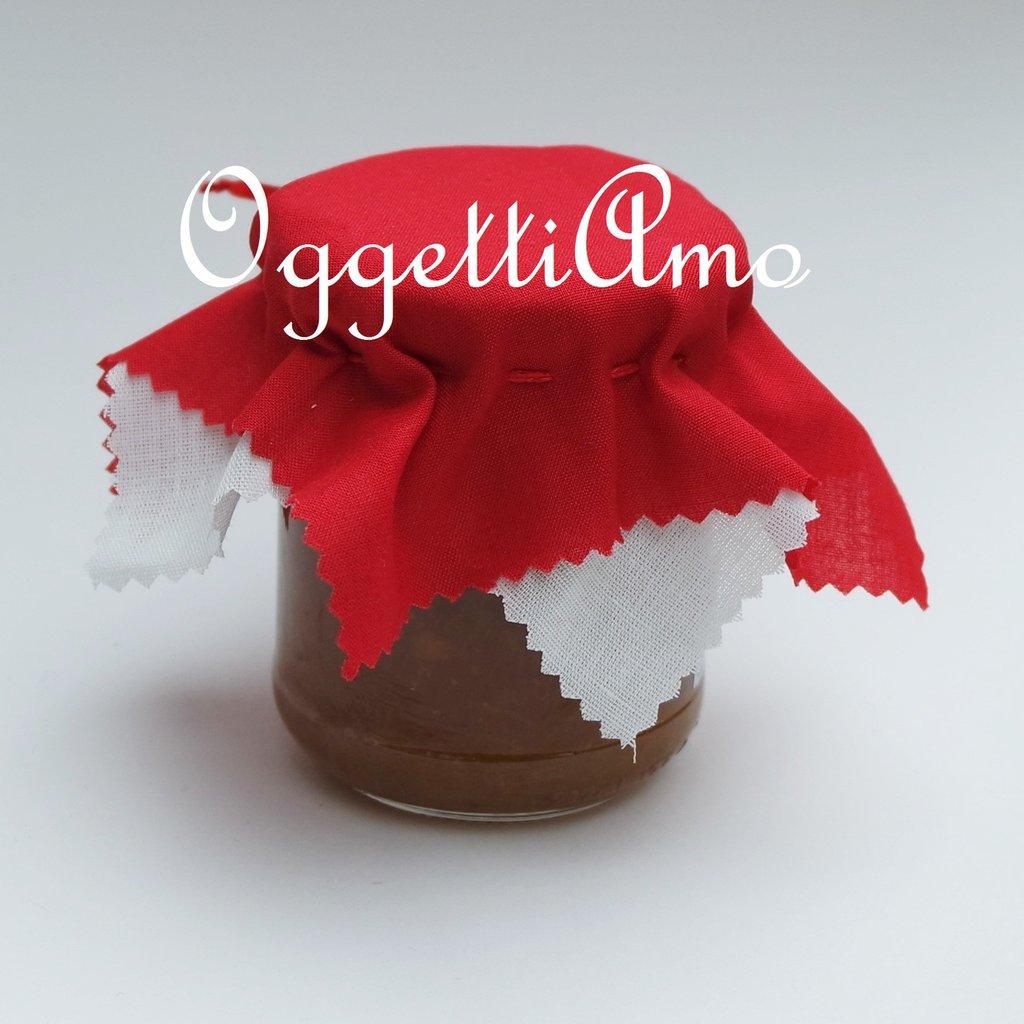 Coprivasetti di cotone rosso per decorare i vostri regali golosi!