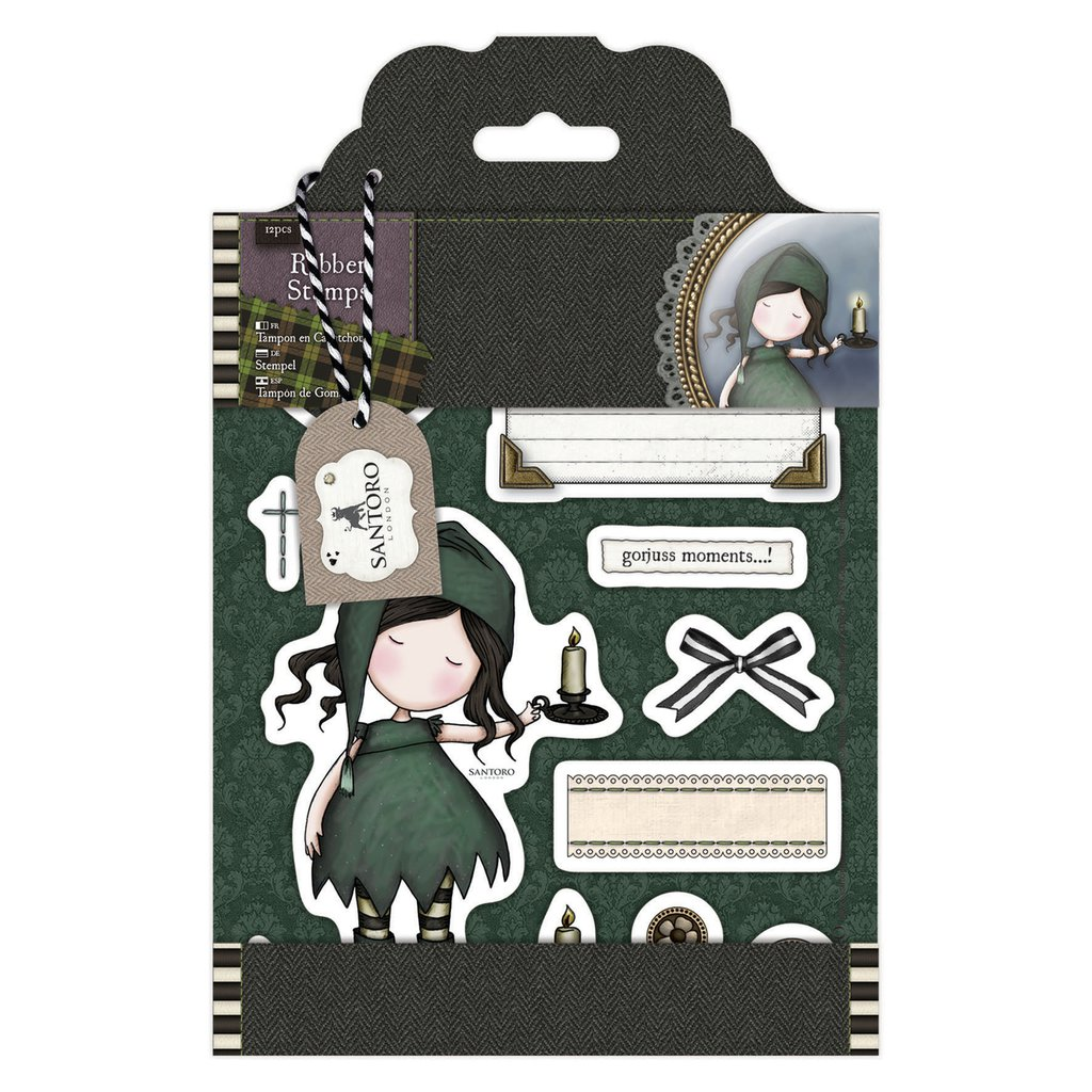 """Rubber Stamps - Gorjuss Tweed """"Nightlight"""""""