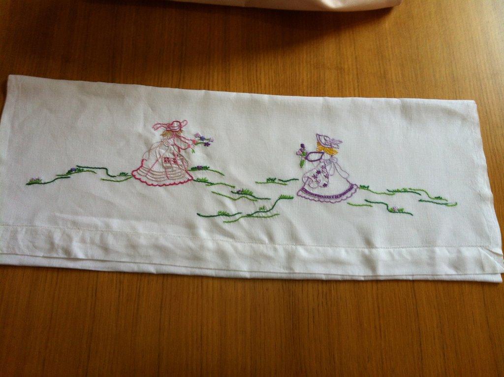 lenzuolino per bambina di lino per passeggino