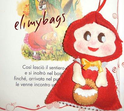 Cappuccetto rosso di feltro da appendere♥