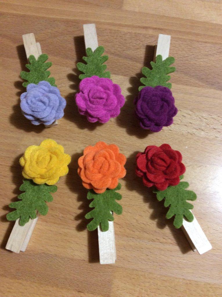 mollette segnaposto fiore tipo 1